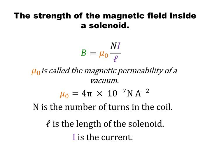 The strength of the magnetic field