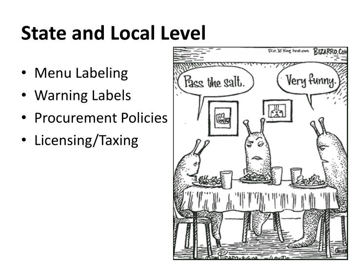 State and Local Level