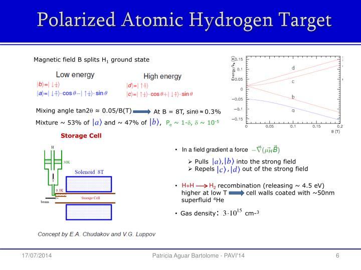 Polarized Atomic Hydrogen Target