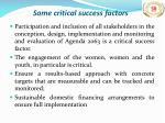 some critical success factors