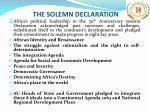 the solemn declaration