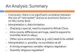 an analysis summary