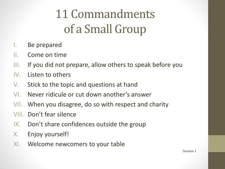 11 Commandments