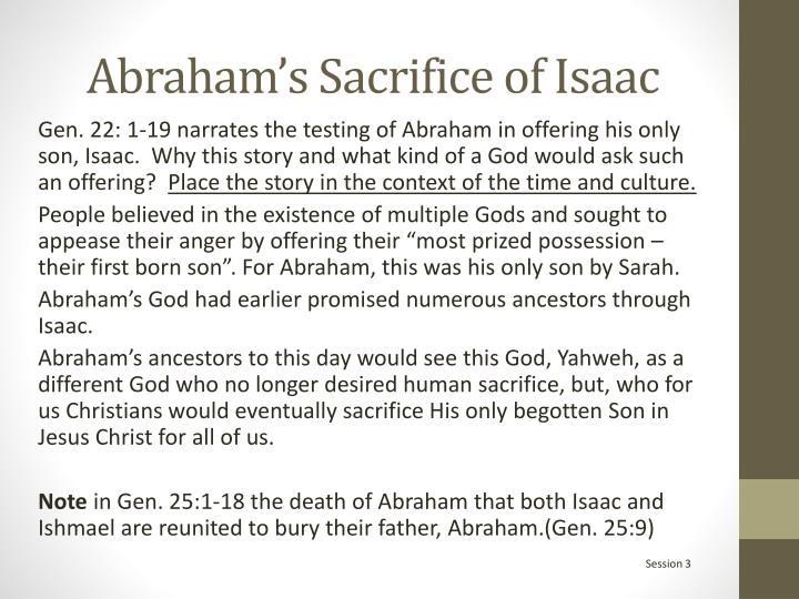 Abraham's Sacrifice of Isaac