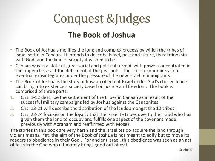 Conquest &Judges