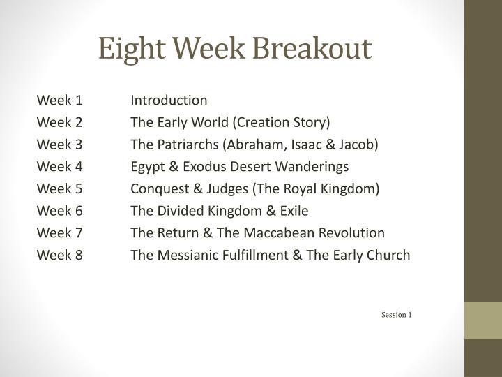 Eight week breakout