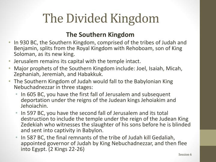 The Divided Kingdom