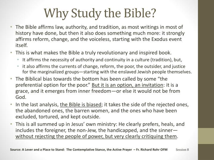 Why Study the Bible?