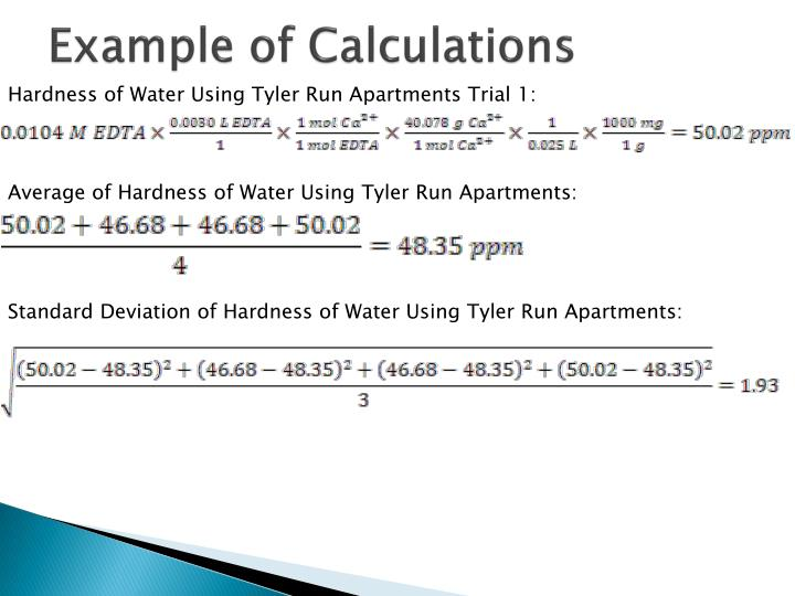 Example of Calculations