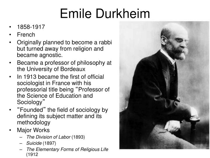 emile durkheim individualism and the intellectuals Emile durkheim is pre-eminently the sociologist of community and the possibility for community in modern western societies individualism and the intellectuals is durkheim's contribution to the dreyfus affair, which was the pivotal political event in france in the 1890s.