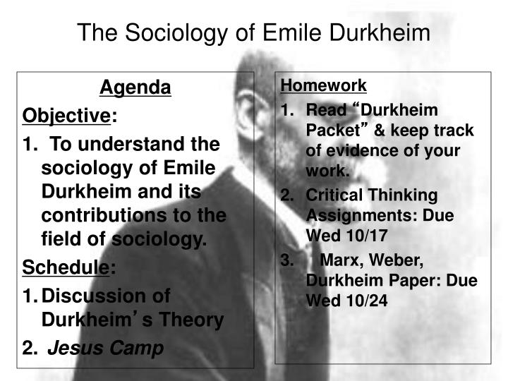 durkheims impact on development of sociology Emile durkheims contributions to sociological more lasting impact on modern sociology than those to emile durkheims contributions to sociological theory.