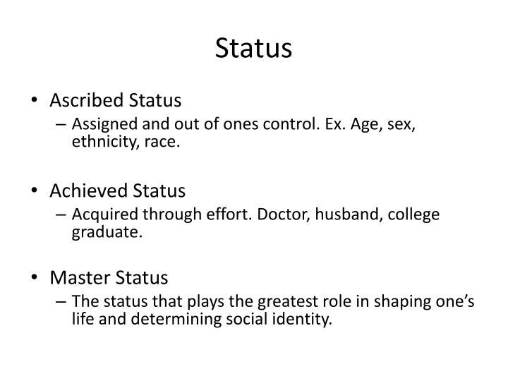 what is ascribed status