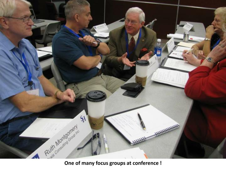 One of many focus groups at conference !