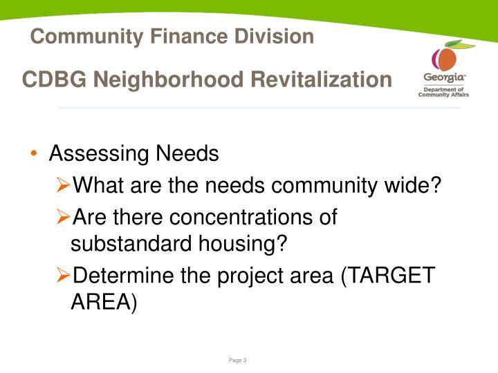 Cdbg neighborhood revitalization1