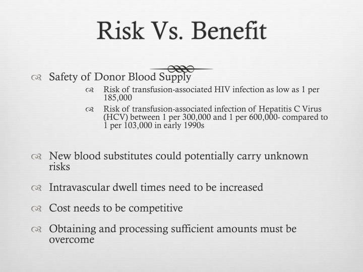 Risk Vs. Benefit