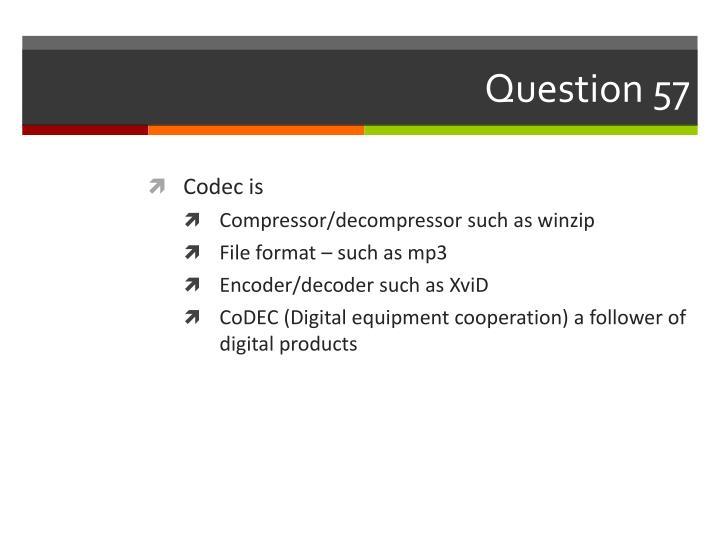 Question 57
