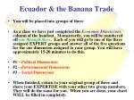 ecuador the banana trade