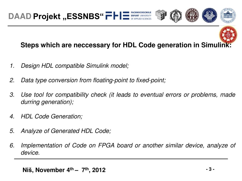 PPT - HDL Code Generation using MATLAB/Simulink PowerPoint