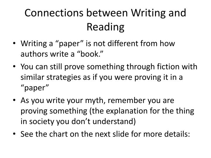 Connections between writing and reading