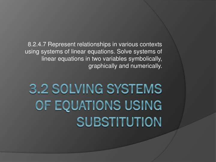 3 2 solving systems of equations using substitution n.