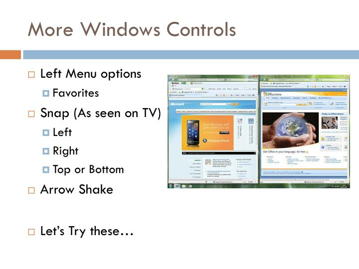 More Windows Controls