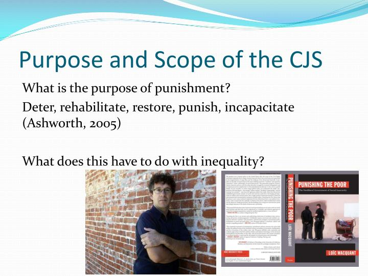 Purpose and Scope of the CJS