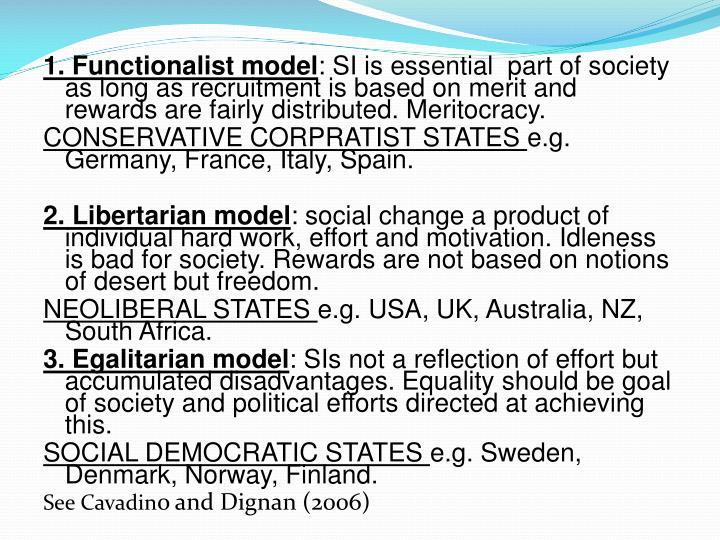 1. Functionalist model