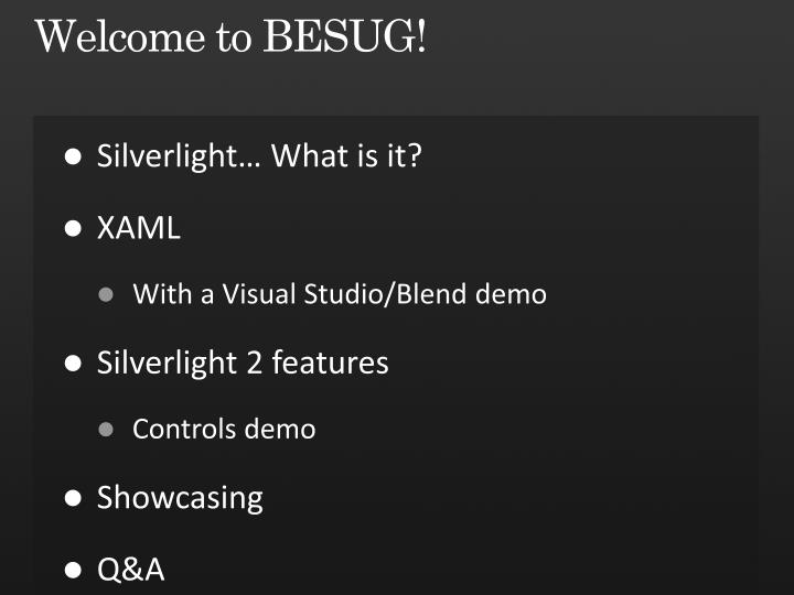 Welcome to besug