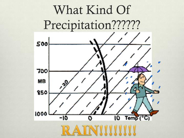 What Kind Of Precipitation??????