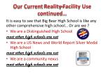 our current reality facility use continued1