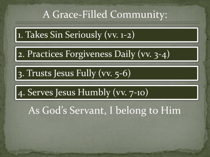 A Grace-Filled Community: