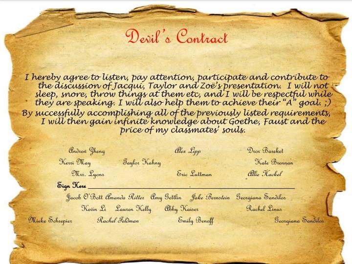 Devil's Contract