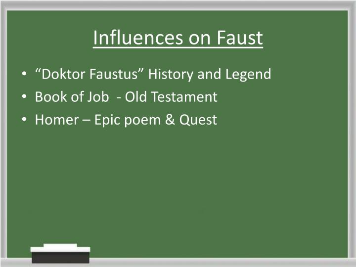Influences on Faust