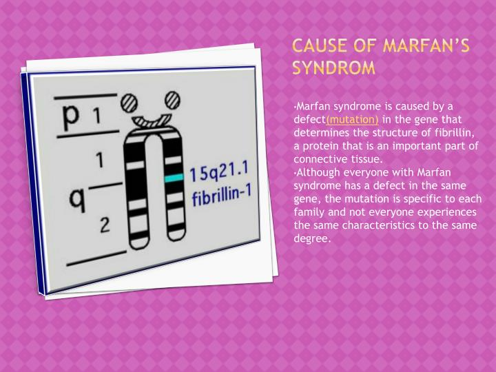 Cause of marfan s syndrom