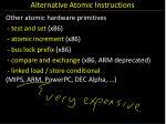 alternative atomic instructions