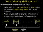 shared memory multiprocessors1