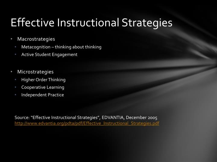 Ppt Instructional Strategies For Enhanced Learning Powerpoint