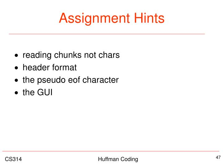 Assignment Hints