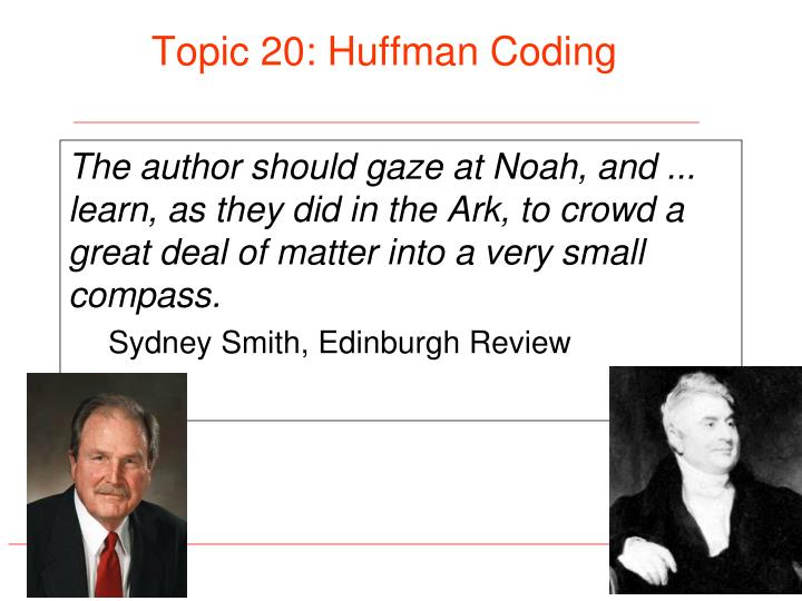 Topic 20 huffman coding