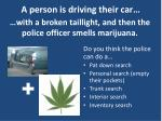a person is driving their car