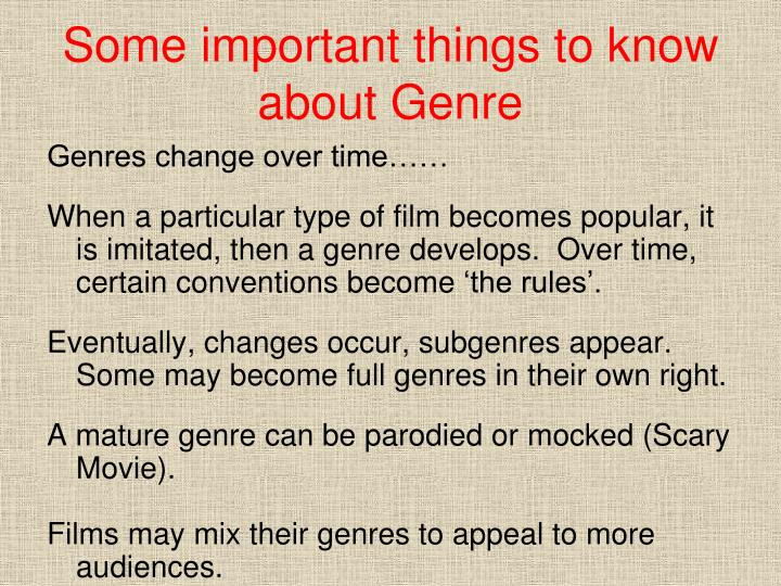 Some important things to know about Genre