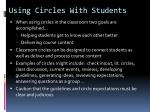 using circles with students1