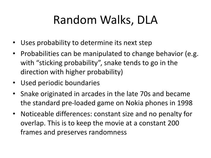Random walks dla