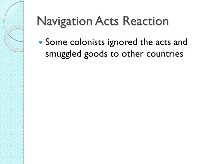Navigation acts reaction