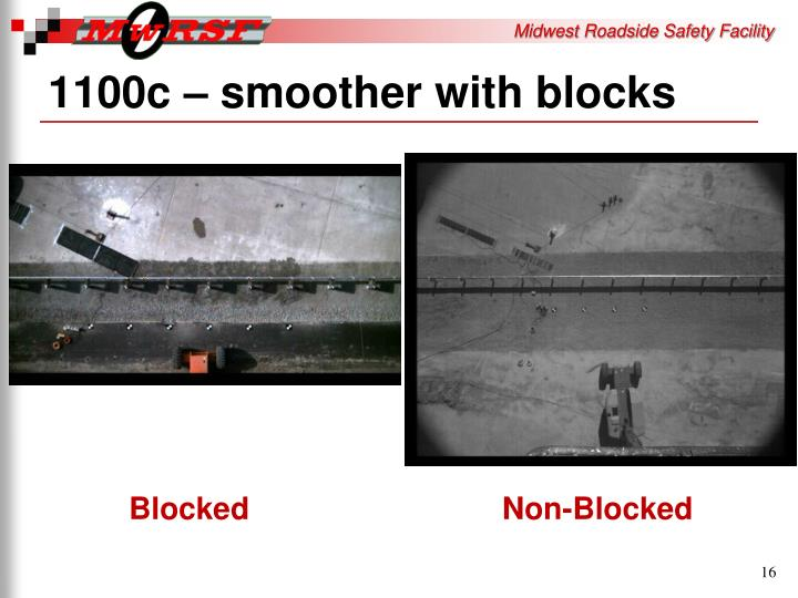 1100c – smoother with blocks