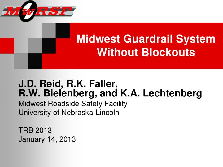 Midwest guardrail system without blockouts
