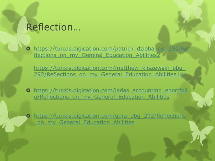 Reflection…