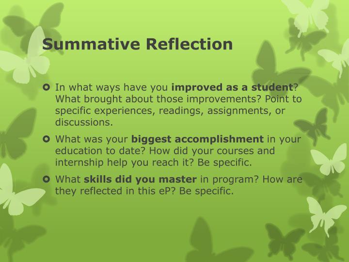 Summative Reflection