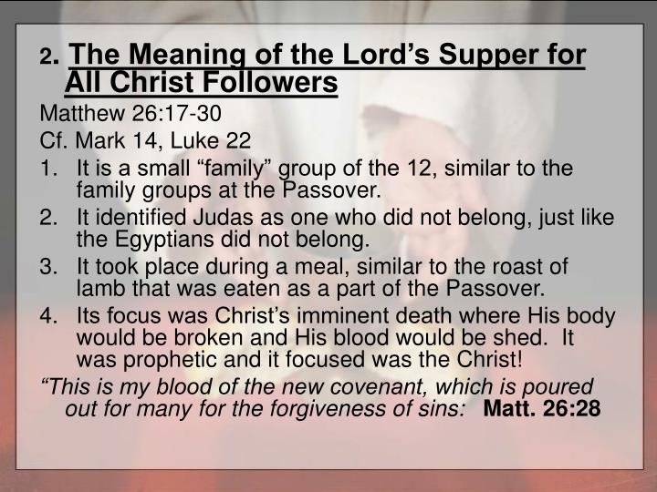 A focused family the lord s supper