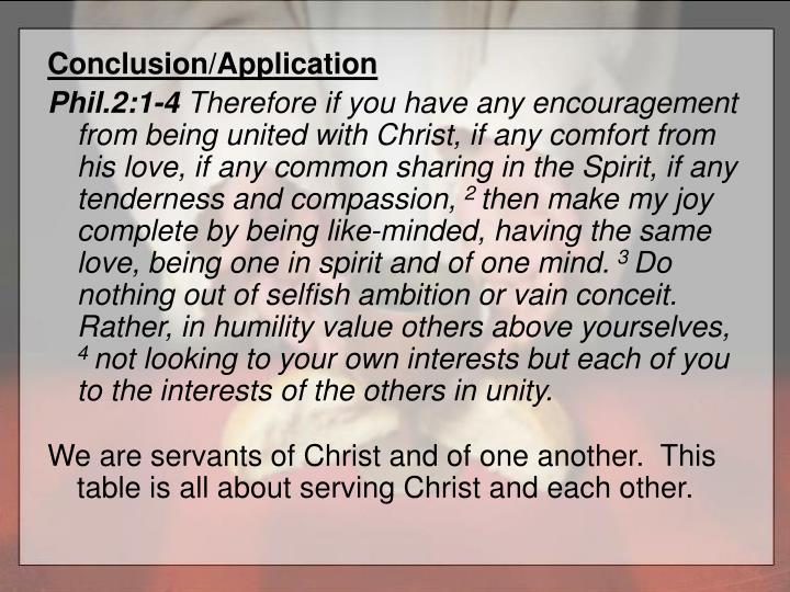 Conclusion/Application